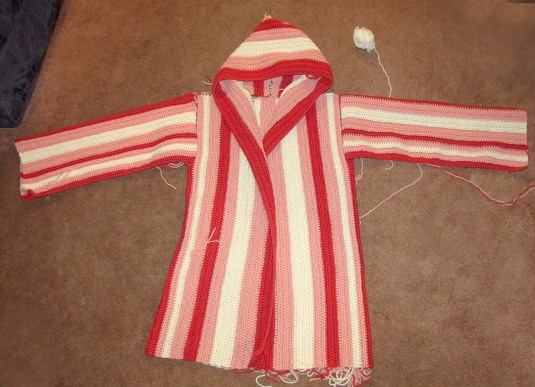 Striped Hoodie Almost Done