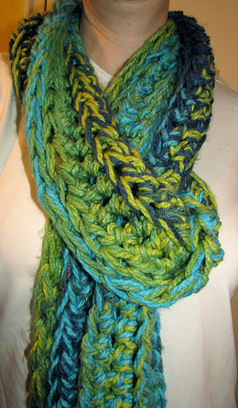 Crochet Patterns Loops And Thread Yarn : Free Pattern: Supersized See My Stitches Scarf Hookers ...