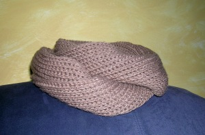 Not a Brioche Infinity Scarf Wrapped
