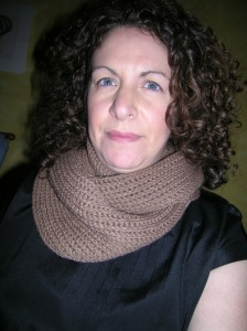 Not a Brioche Infinity Scarf Model