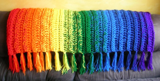 Somewhere Over the Rainbow Throw