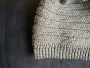 Closeup of No More Snow! a hat