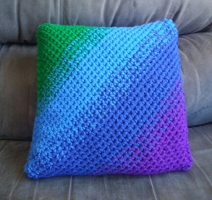 Jewel Tone Ombre Pillow