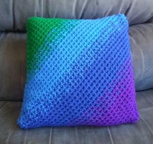 Jewel Tone Ombre Pillow