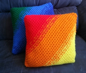 Red Orange Yellow Ombre Pillow