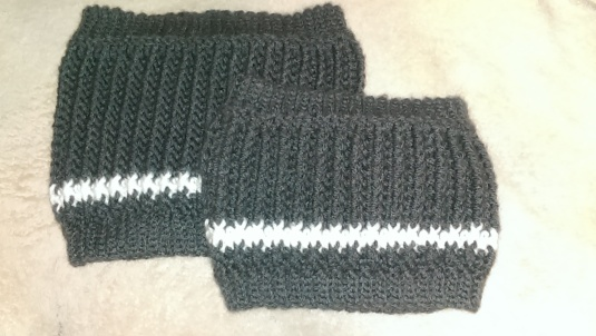 Child Size and Adult Size Striped Cowls