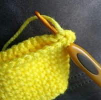 Slip Stitch through both sides